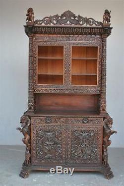 19th Century Indian Cabinet Very Richly Carved