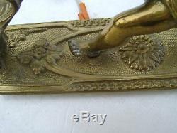 2 Sconces Gilt Bronze Louis XVI Era Cherubs Nineteenth Em Recen Electrification