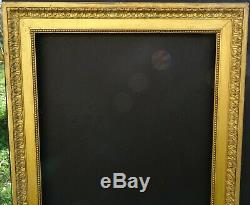# 713 Framework Early Wood Xixth And Stucco Golden Frame For 66.3 X 55 CM