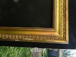 # 714 Framework Early Wood Xixth And Stucco For Golden Frame 65 X 54.8 CM