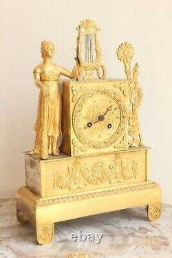 Allegory Pendule Of Music Period 19th