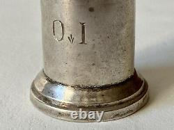 Ampoule Oil Saint Chrême Sick Silver Massive Minerve Liturgy 19th Century