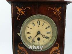 Ancient Clock In 19th Century Marquetry
