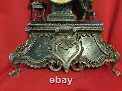 Ancient Clock In Regular Period Late XIX Th S