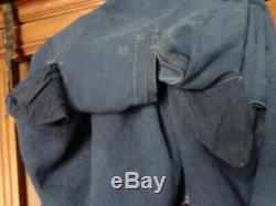 Ancient Clothes Or Bude Maudlin Vintage Nineteenth Blue Linen