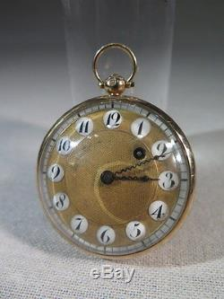 Ancient Nice Watch Coq Push Gold 18 Cts Cadran Cartridge Time XIX