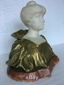 Ancient Sculpture Bronze Golden And Marble End Xixth Time 1900 Art Nouveau
