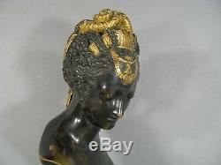 Ancient Sculpture Xixth Century Bust Bronze Diane Chasseress