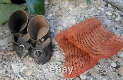 Antique Pair Shoes Socks Jumeau Size 7 Period Late Xixth