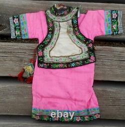 Antique Superb Dress Bb Asiati Simon & Halbig Era Late Nineteenth