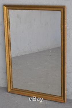 Antique Wood Mirror And Bronzed Stucco Vintage Late Nineteenth