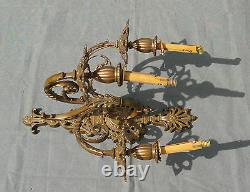Applicable Pair In Bronze 3 Lights Epoque Nap III Threebranch Wall-lights XIX Eme