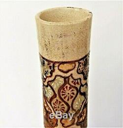 Art Large Vase Asia (30cm.) Ceramic Satzuma, Japan Time Late Nineteenth