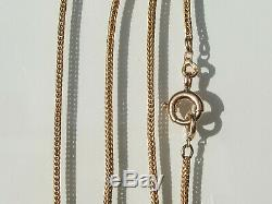 Beautiful Ancient Chain xixth In Gold Yellow 18k 750/1000 ° / Length 48,5cm