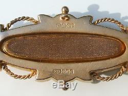 Beautiful Ancient Secret Pin Of End Xixth Yellow Gold 9k 375/1000 °