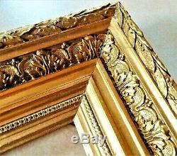 Beautiful Broad Molding Frame Wood And Gilded Stucco Period Late XIX 1880