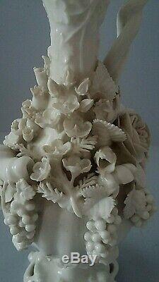 Beautiful Ewer In White Porcelain Signed Jacob Petit Époque XIX