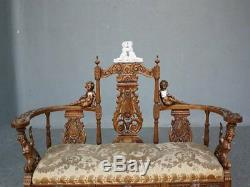Bench Carved With Putti Nineteenth Time