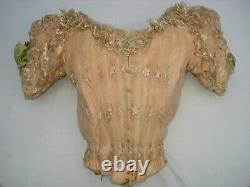 Bodice Ancient Silk Ball Dress Beautiful Antique Epoque Victorian Silk Bodice S