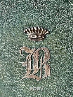 Book Dhours Religion & Piety Flowers Of Lys & Crown Comtale Epoque XIX Ème