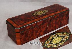 Box A Gants Ronce De Noyer Palissandre Marqueterie Period Napoleon III 19th