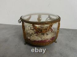 Box Or Box Of Wedding Glass And Metal Golden Age Of Napoleon XIX