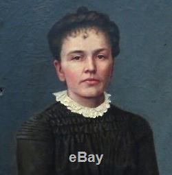 Bralebois Portrait Of Woman Epoque Late Nineteenth Century Oil On Canvas