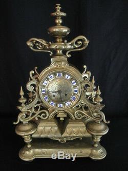 Bronze Clock Louis XIV Style Nineteenth Century