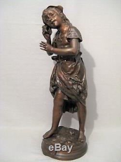 Bronze Sculpture By Adrien Gaudez Echo Time Nineteenth Century