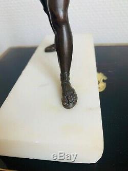 Bronze XIX Eme Empire Period Mythological Launcher Javelin