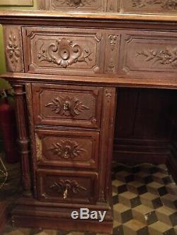 Buffet Table / Treasurer Of The Castle / Mansion Neogothic Xixth -1860