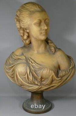 Bust Of Madame Du Barry D'après Augustin Pajou En Terre Cuite, 19th Century