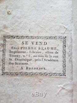 C1 Napoleon CIVIL Code Of French 1805 Connects Full Leather Of Time Good Condition