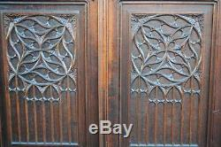Cabinet In Oak Xixth Gothic Style