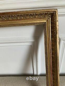 Cadre Epoque Restoration Empire Golden Wood 19th 60.5 / 50.5