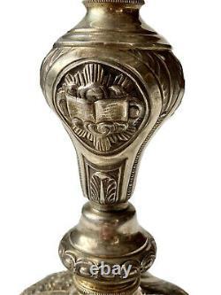 Calice And Patène Silver Massive Vermeil Period 19th Religiosa Antique Chalice
