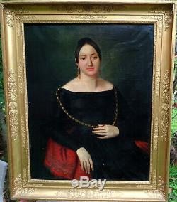 Catherine Mattau Woman Portrait Epoque Louis Philippe Nineteenth Century Hst