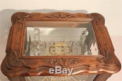 Cellar Liquor Walnut Crystal And Bronze Nineteenth Century Era