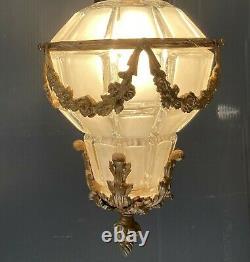 Chandelier / Lantern Style XVI Napoleon Epoque IIII Decoration Bronze Doré Xixeme