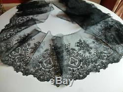 Chantilly Lace Old Bobbin 585 CM X 29 CM Napoleon III Period