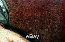 Charles Crauk Great Woman Portrait Epoque Second Empire Hst Nineteenth Century