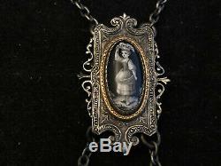 Châtelaine Porte Gousset Jewelry Napoleon III Era Enamel XIX Silver Metal