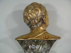 Ciceron Bust In Bronze Sculpture Ancient Epoque 19th Century Marcus Cicero