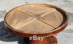 Circular Pedestal Gooseneck Period Empire Mahogany Early Nineteenth Century