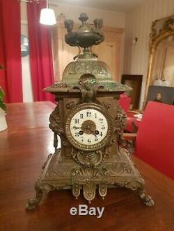 Clock Bronze Combine Napoleon III Era Late Nineteenth S