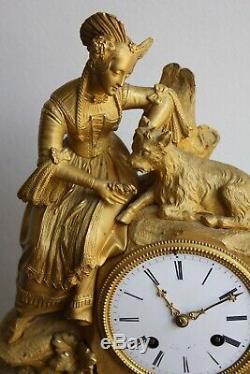Clock Woman In Bouc Nineteenth Epoque