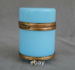 Coffret In Opaline Bleu Celeste From Napoleon III Mid-19th Century