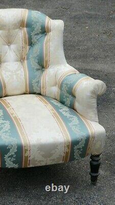 Comfortable Chair Padded Napoleon Iii, 19th Century