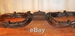 Console Regency Style Carved Wood Time Nineteenth Century