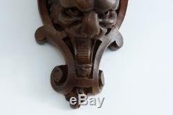 Console Walnut Wall Lamp Carved Lion, Nineteenth Time
